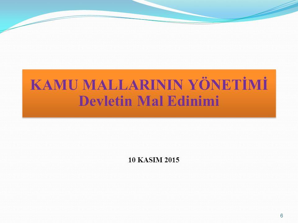 KAMU MALLARININ YÖNETİMİ