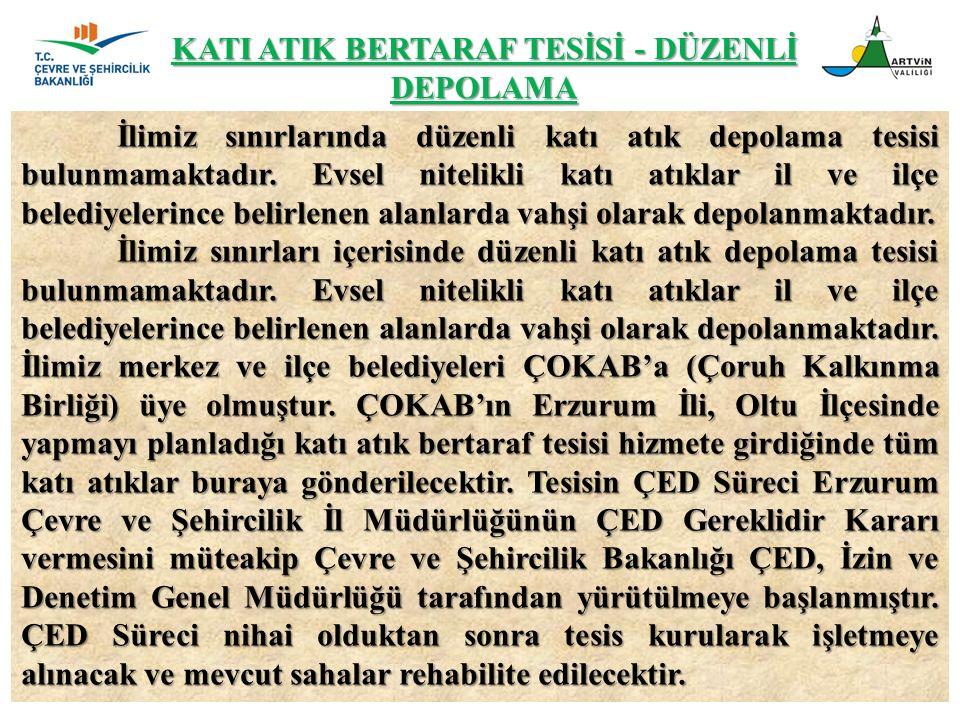 KATI ATIK BERTARAF TESİSİ - DÜZENLİ DEPOLAMA