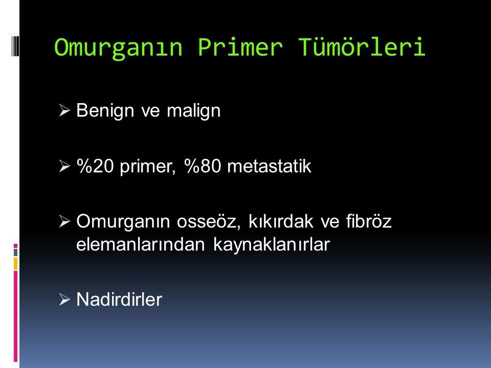 Omurganın Primer Tümörleri