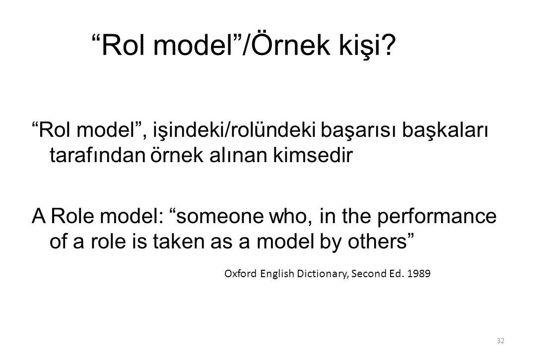 Rol model /Örnek kişi