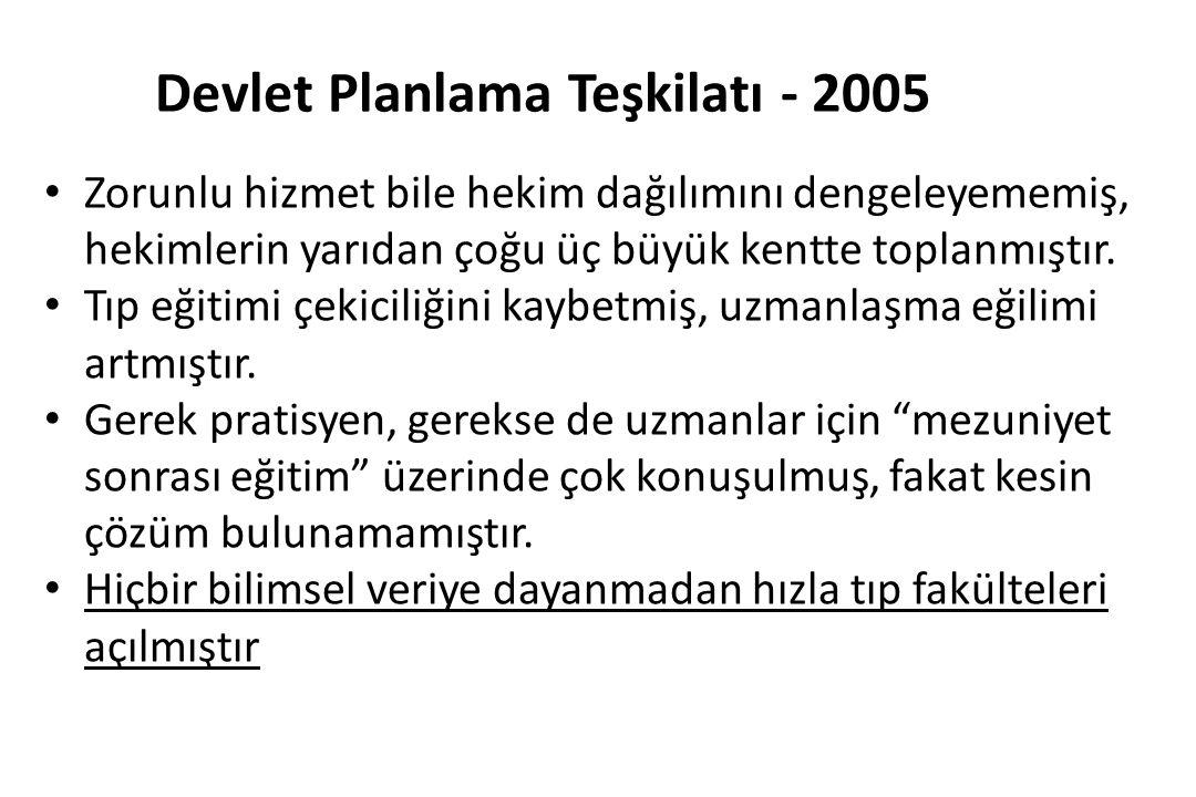 Devlet Planlama Teşkilatı - 2005