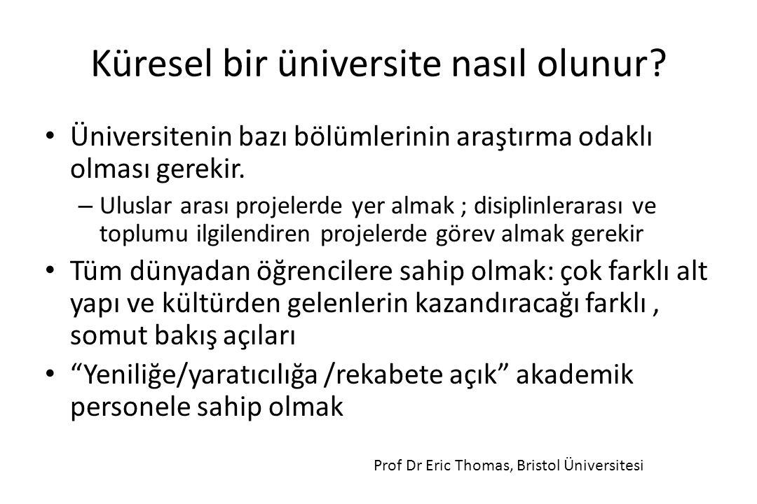 Küresel bir üniversite nasıl olunur
