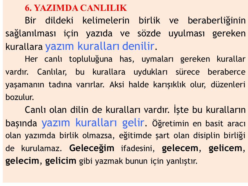 6. YAZIMDA CANLILIK