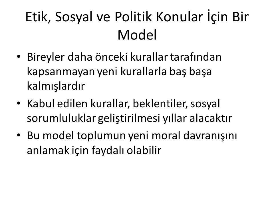 Etik, Sosyal ve Politik Konular İçin Bir Model