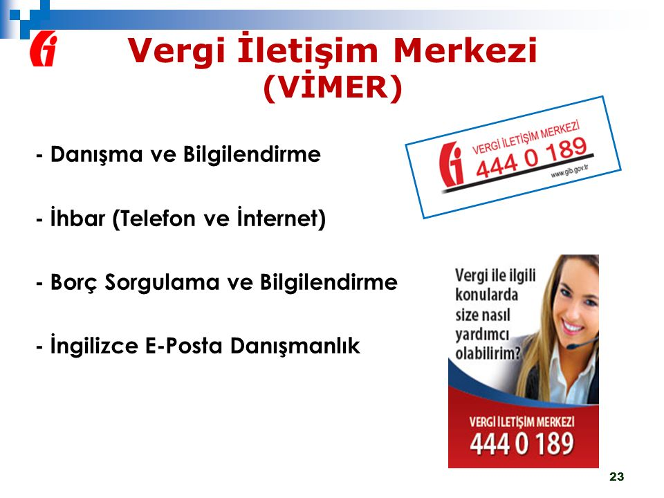 Vergi İletişim Merkezi (VİMER)