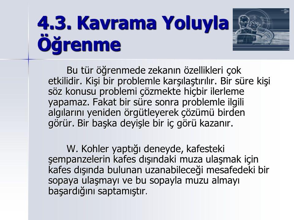 4.3. Kavrama Yoluyla Öğrenme