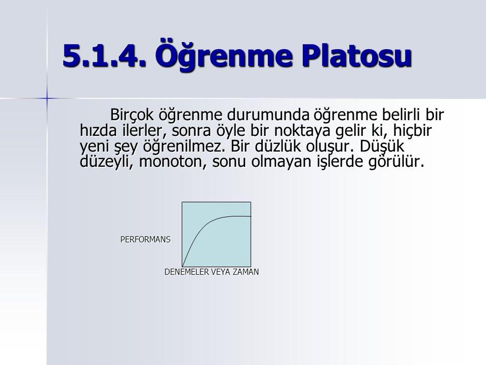 5.1.4. Öğrenme Platosu