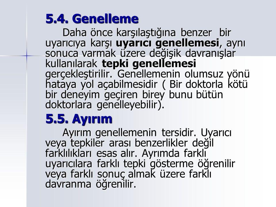 5.4. Genelleme