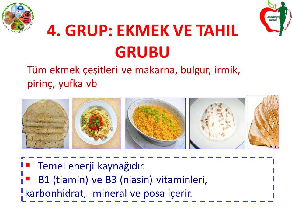 4. GRUP: EKMEK VE TAHIL GRUBU