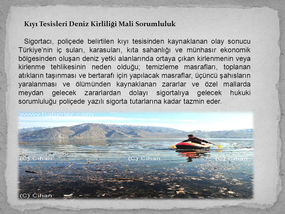 Kıyı Tesisleri Deniz Kirliliği Mali Sorumluluk