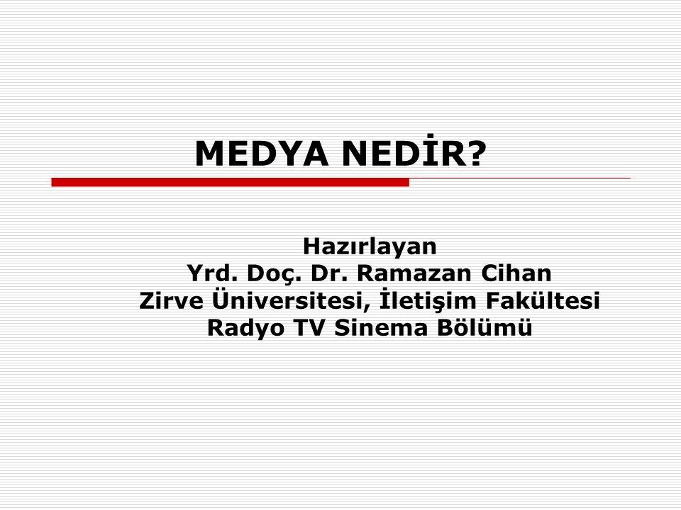Yrd. Doç. Dr. Ramazan Cihan Zirve Üniversitesi, İletişim Fakültesi