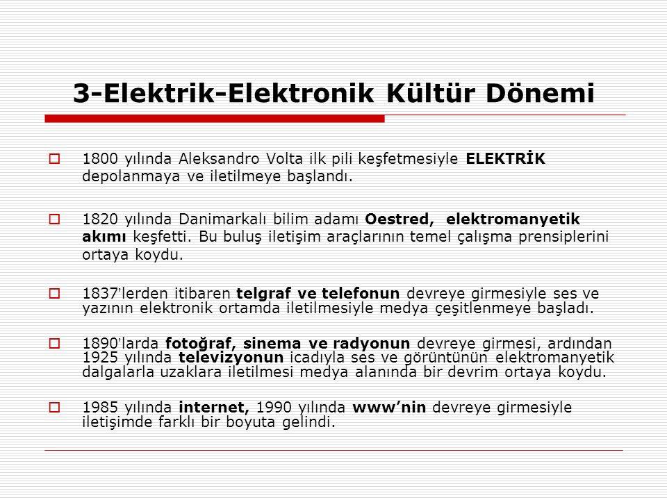 3-Elektrik-Elektronik Kültür Dönemi