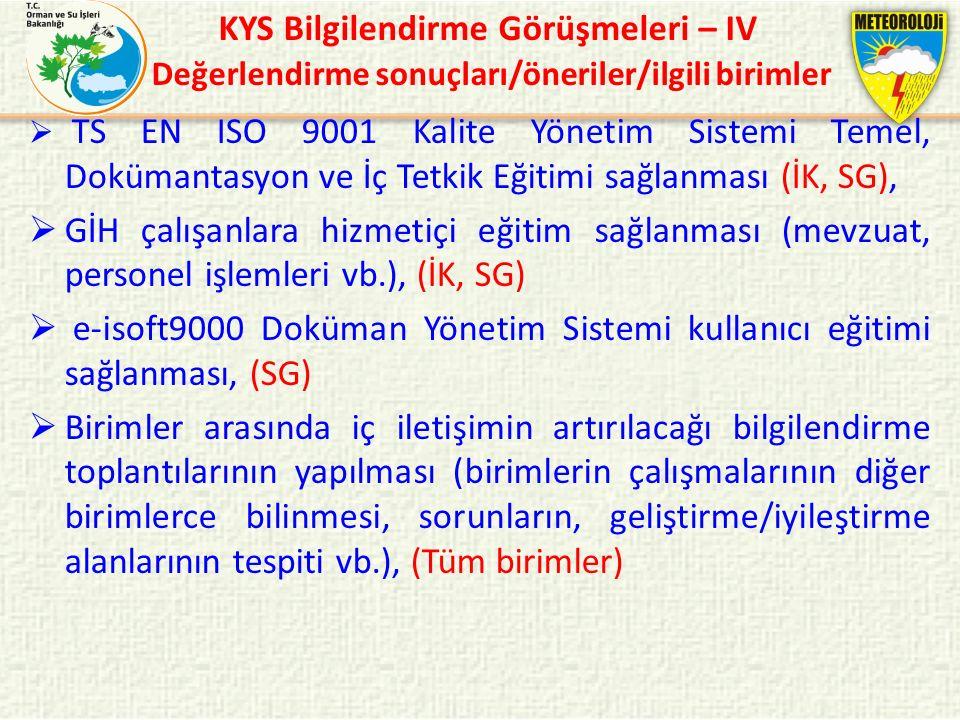 e-isoft9000 Doküman Yönetim Sistemi kullanıcı eğitimi sağlanması, (SG)