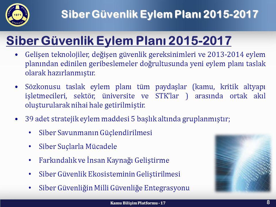 Siber Güvenlik Eylem Planı 2015-2017