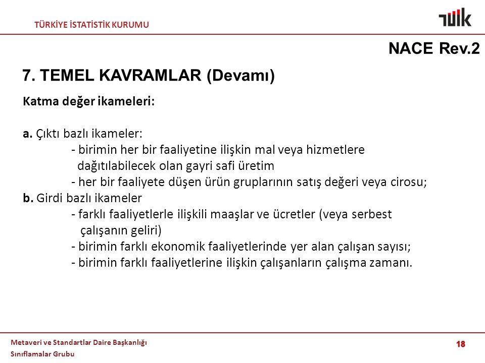7. TEMEL KAVRAMLAR (Devamı)
