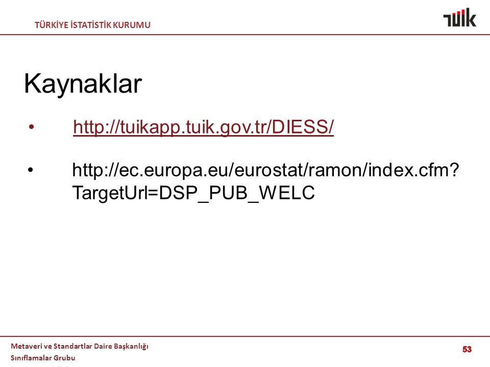 Kaynaklar http://tuikapp.tuik.gov.tr/DIESS/