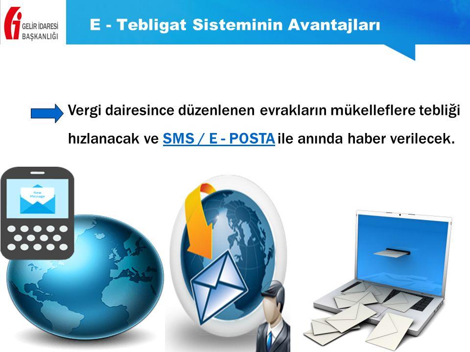 E - Tebligat Sisteminin Avantajları