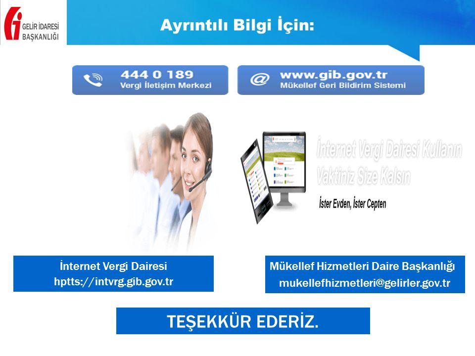 İnternet Vergi Dairesi hptts://intvrg.gib.gov.tr