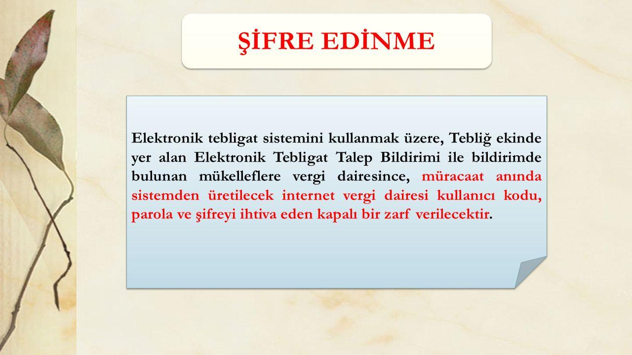 ŞİFRE EDİNME
