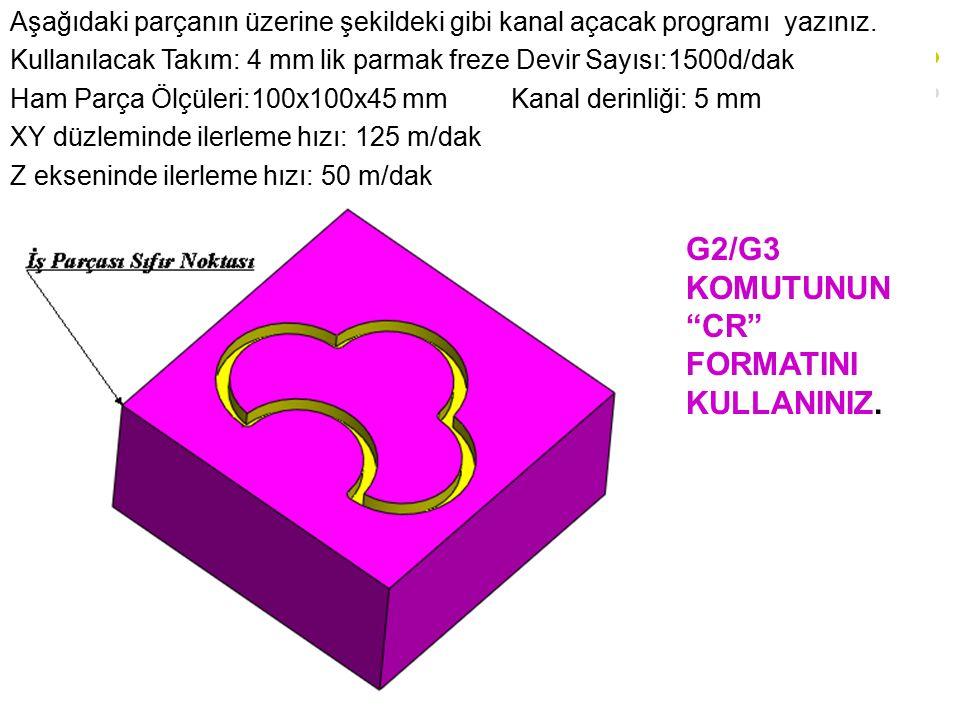 G2/G3 KOMUTUNUN CR FORMATINI KULLANINIZ.