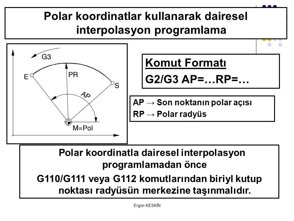 Polar koordinatlar kullanarak dairesel interpolasyon programlama