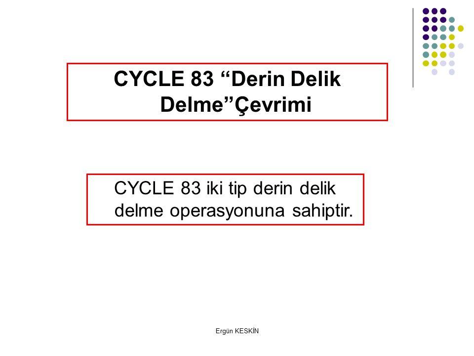 CYCLE 83 Derin Delik Delme Çevrimi