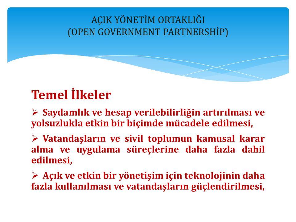 AÇIK YÖNETİM ORTAKLIĞI (OPEN GOVERNMENT PARTNERSHİP)