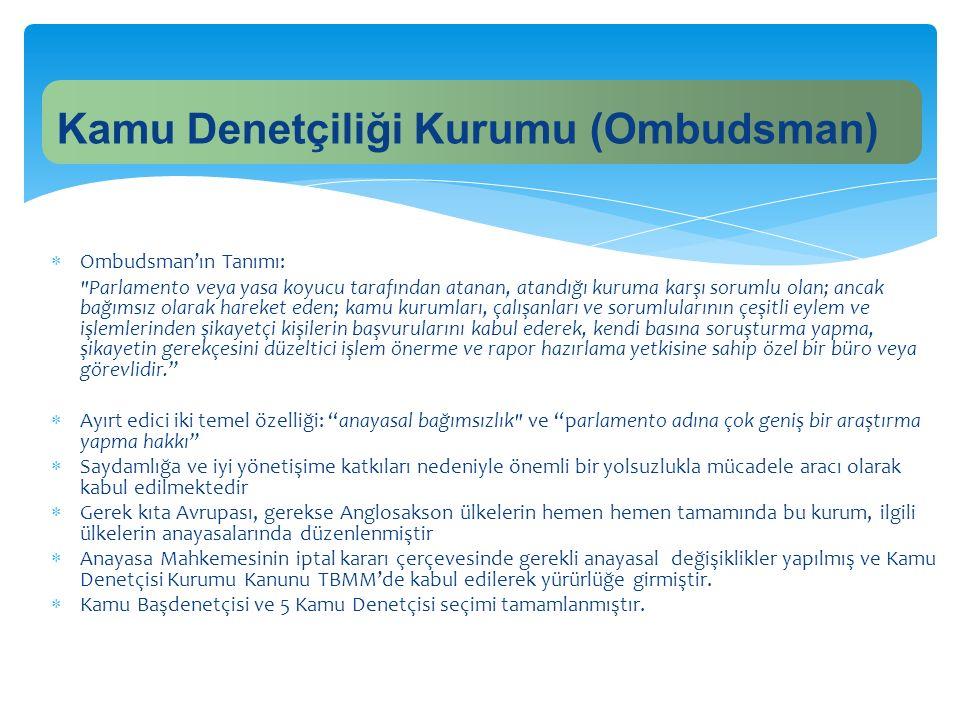 Kamu Denetçiliği Kurumu (Ombudsman)