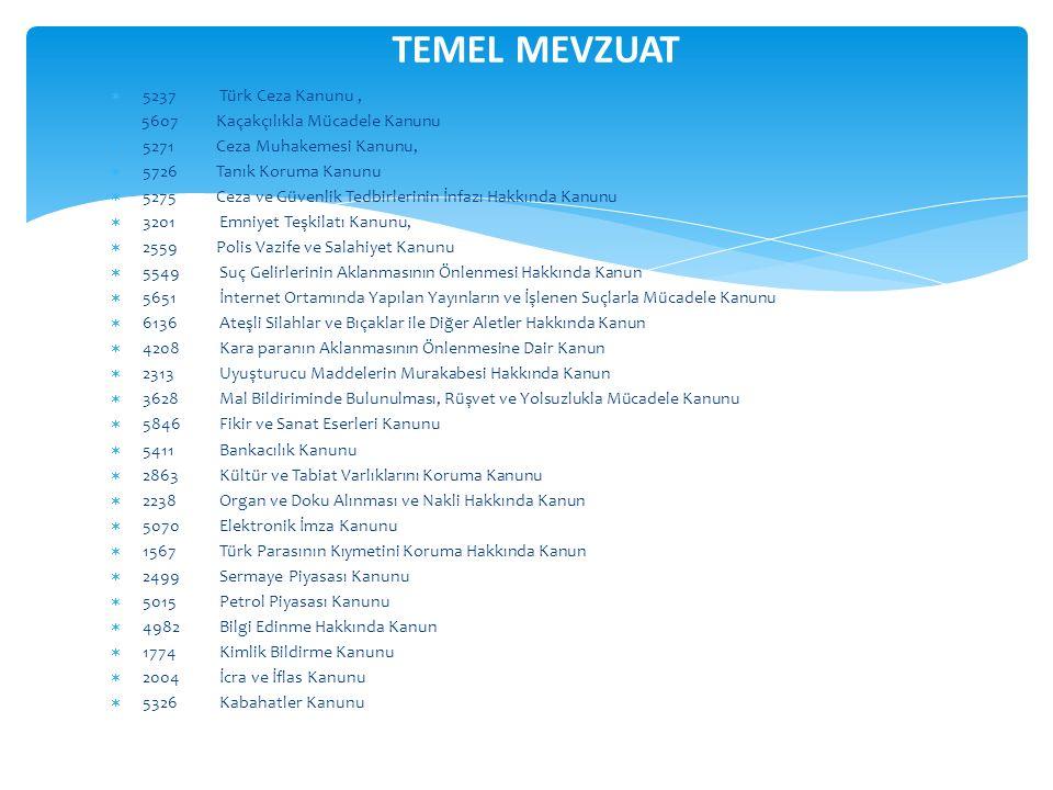 TEMEL MEVZUAT 5237 Türk Ceza Kanunu ,