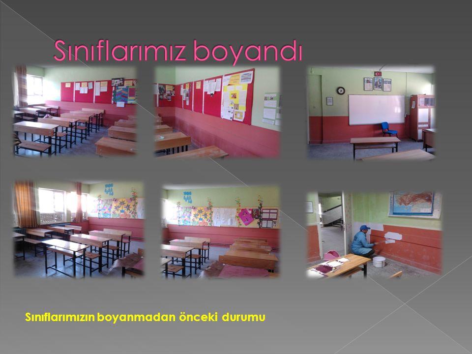 Sınıflarımız boyandı Sınıflarımızın boyanmadan önceki durumu