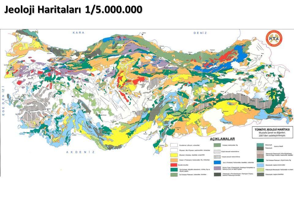 Jeoloji Haritaları 1/5.000.000
