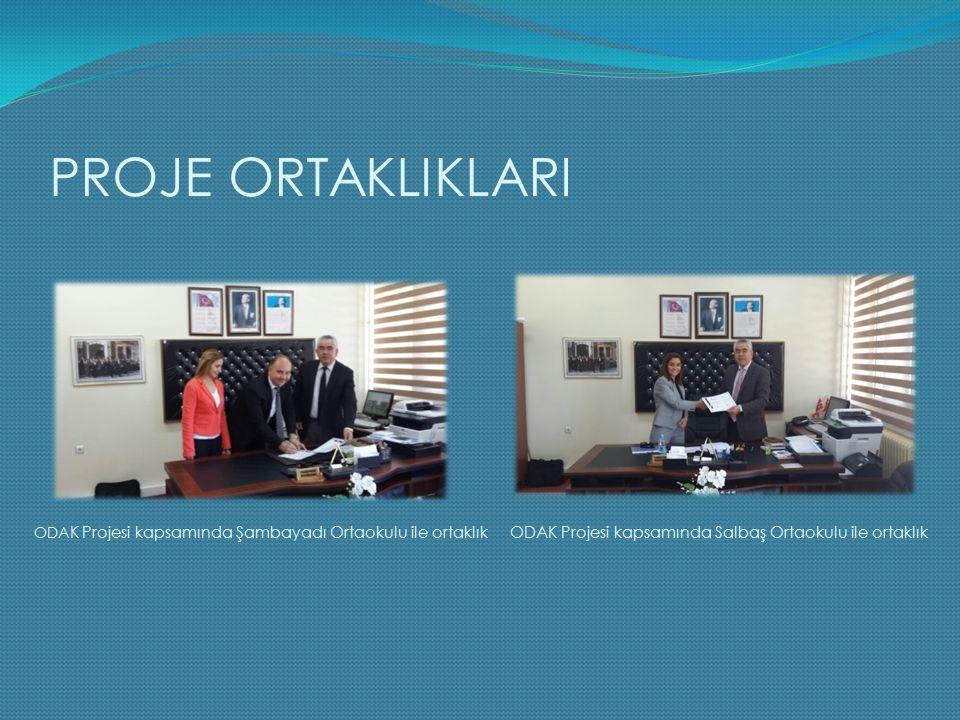 PROJE ORTAKLIKLARI ODAK Projesi kapsamında Şambayadı Ortaokulu ile ortaklık.