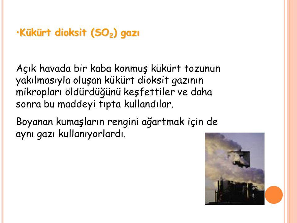 Kükürt dioksit (SO2) gazı