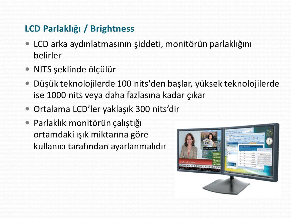 LCD Parlaklığı / Brightness