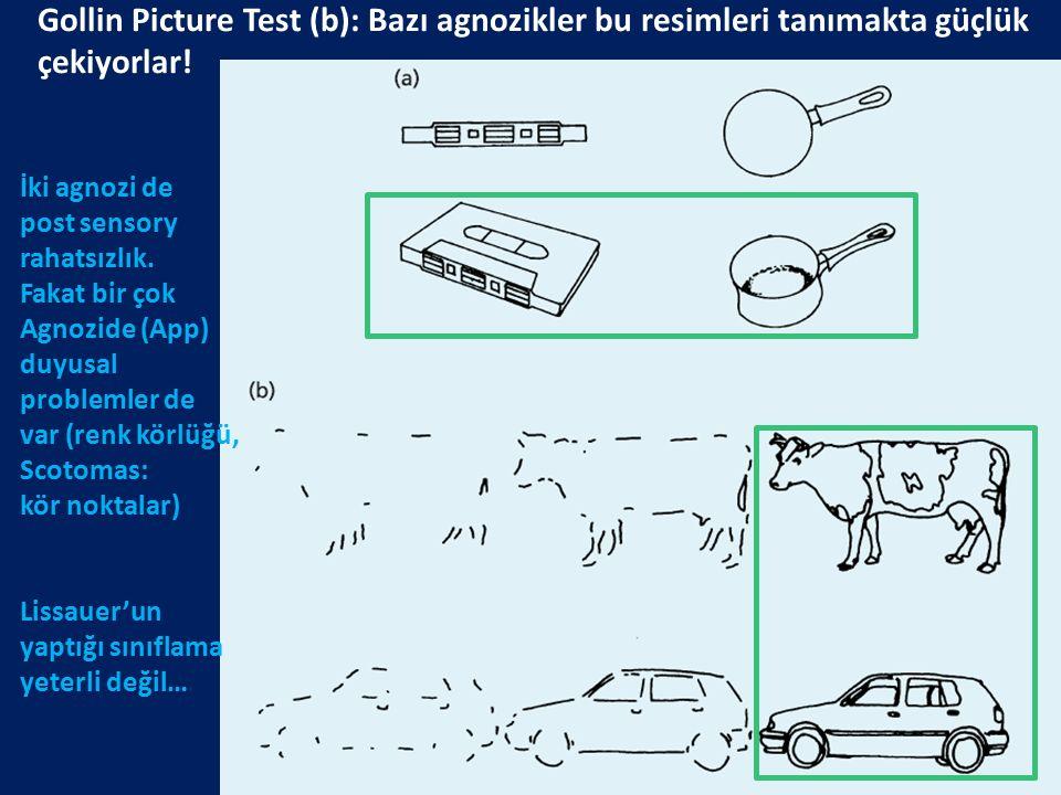 Gollin Picture Test (b): Bazı agnozikler bu resimleri tanımakta güçlük çekiyorlar!