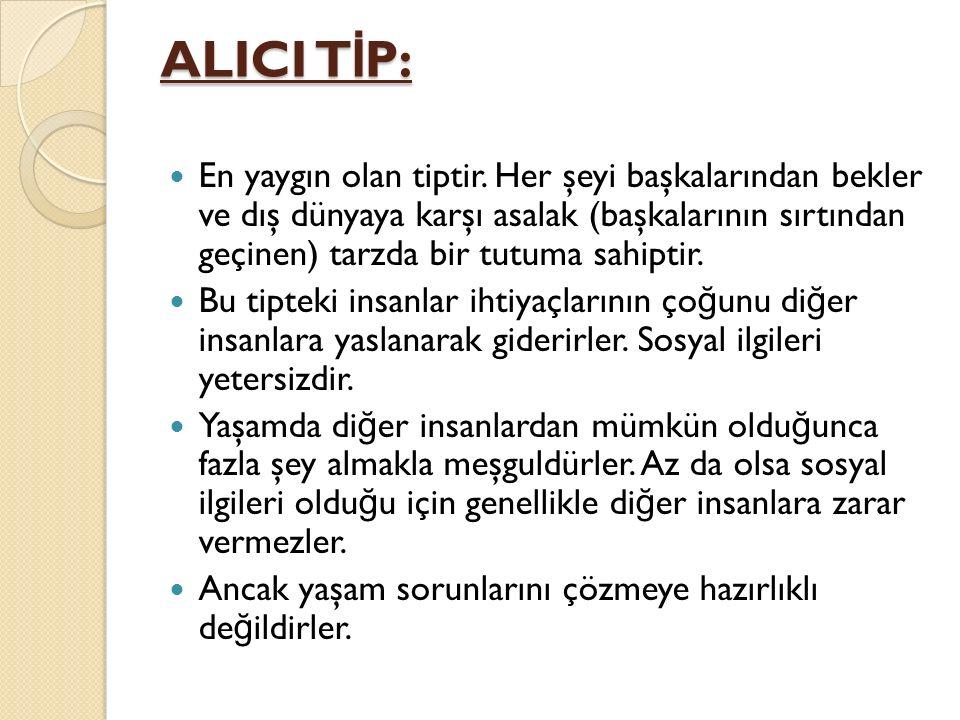 ALICI TİP: