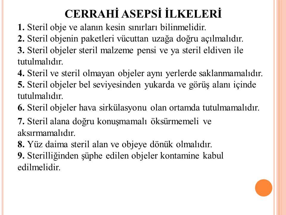 CERRAHİ ASEPSİ İLKELERİ