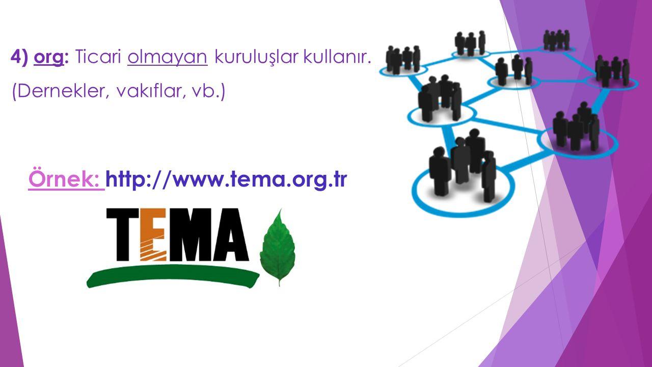 Örnek: http://www.tema.org.tr