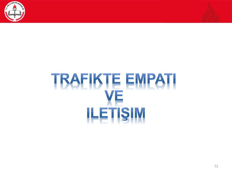 Trafikte empati Ve iletişim
