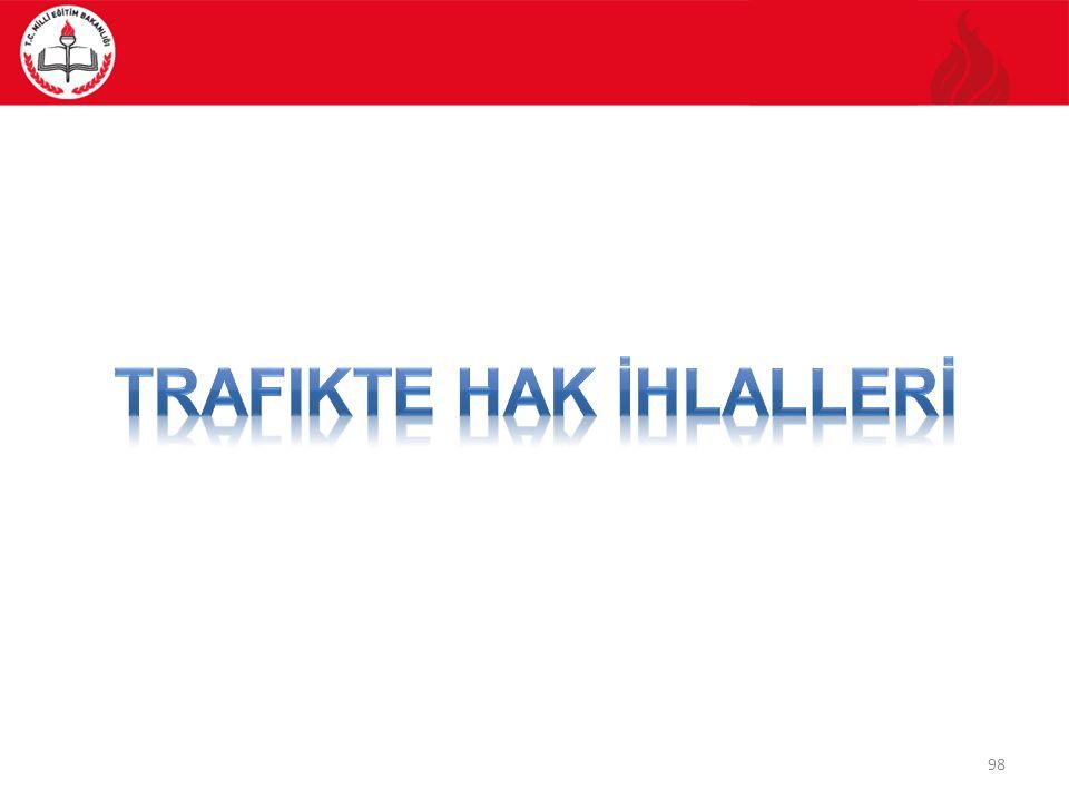 Trafikte HAK İHLALLERİ