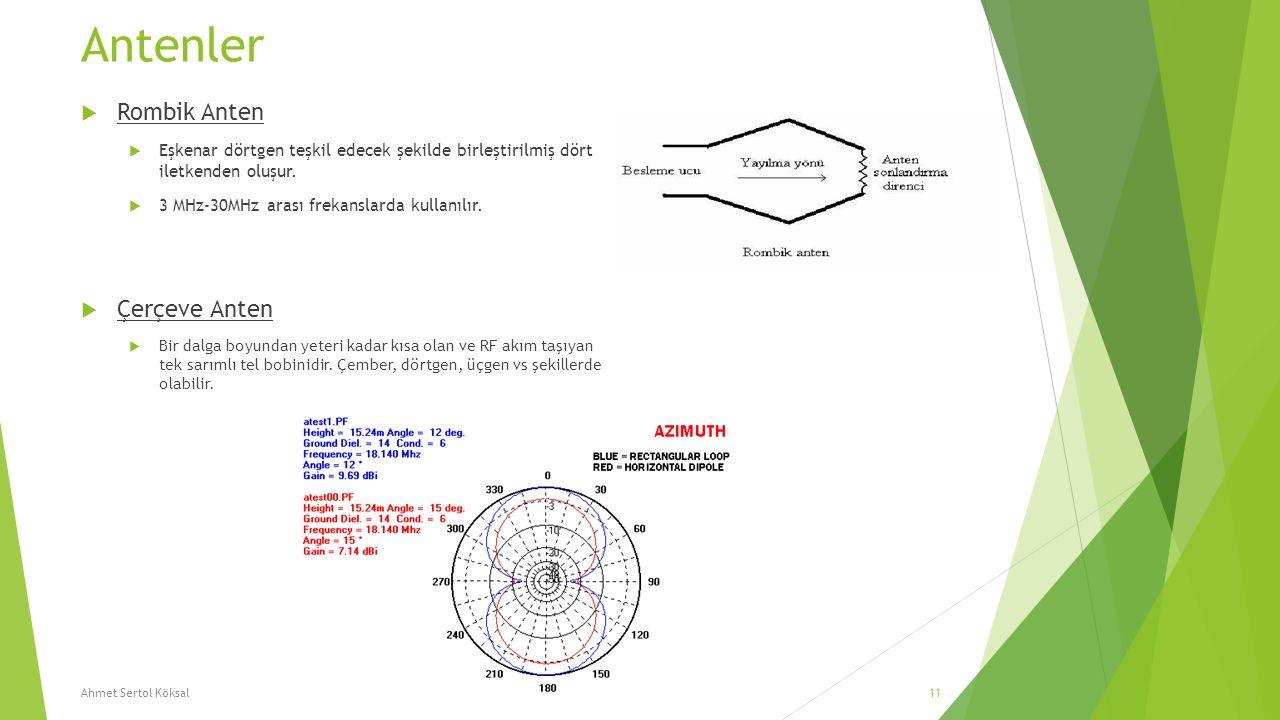 Antenler Rombik Anten Çerçeve Anten