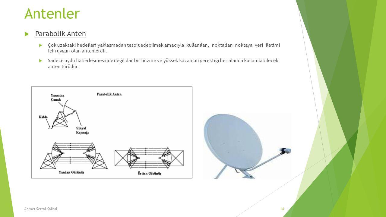 Antenler Parabolik Anten