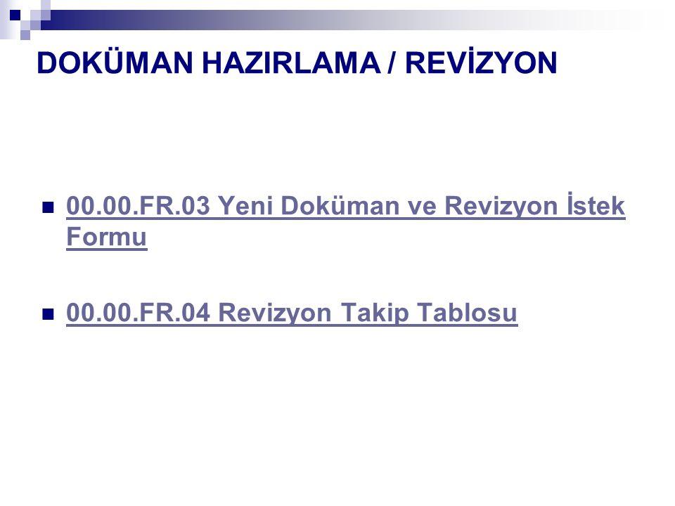 DOKÜMAN HAZIRLAMA / REVİZYON