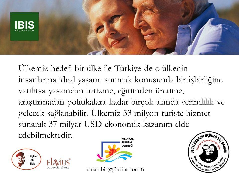 Ülkemiz hedef bir ülke ile Türkiye de o ülkenin insanlarına ideal yaşamı sunmak konusunda bir işbirliğine varılırsa yaşamdan turizme, eğitimden üretime, araştırmadan politikalara kadar birçok alanda verimlilik ve gelecek sağlanabilir. Ülkemiz 33 milyon turiste hizmet sunarak 37 milyar USD ekonomik kazanım elde edebilmektedir.