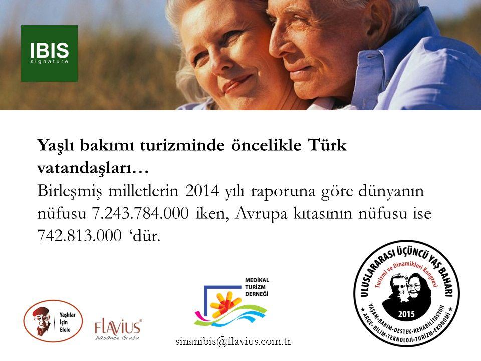 Yaşlı bakımı turizminde öncelikle Türk vatandaşları…