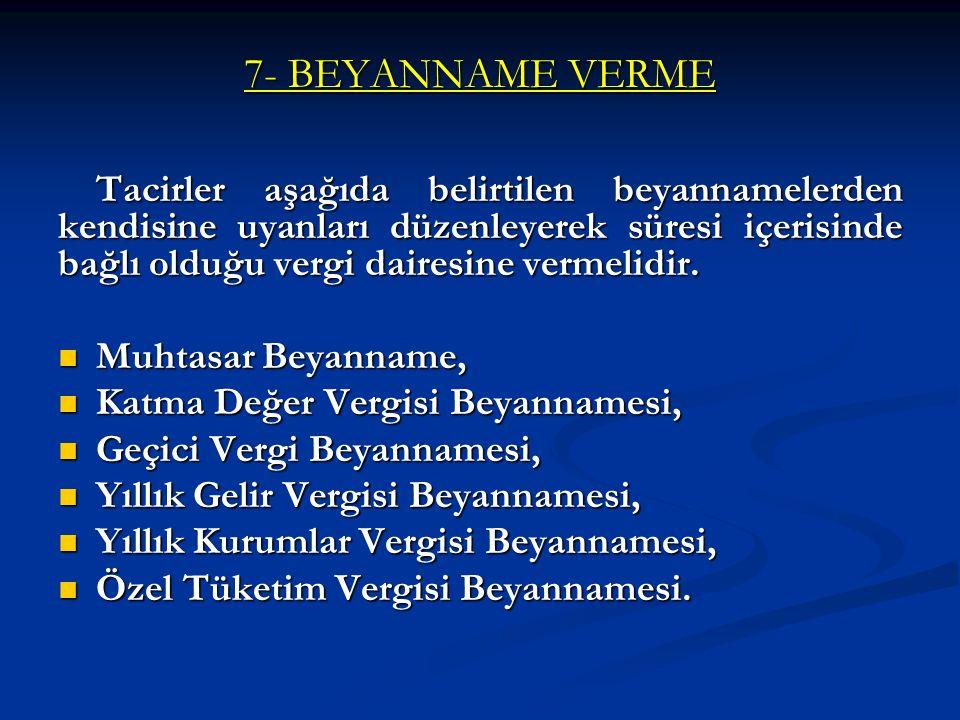 7- BEYANNAME VERME