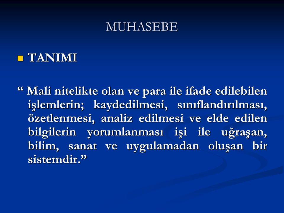 MUHASEBE TANIMI.