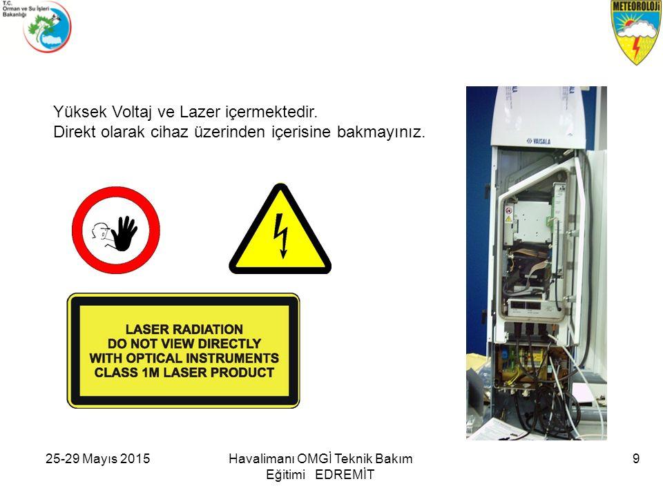 Yüksek Voltaj ve Lazer içermektedir.