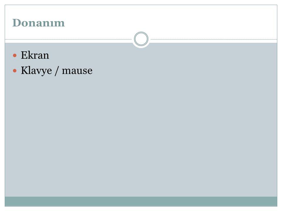 Donanım Ekran Klavye / mause