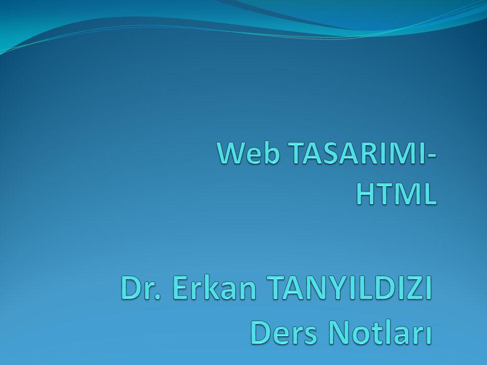 Dr. Erkan TANYILDIZI Ders Notları